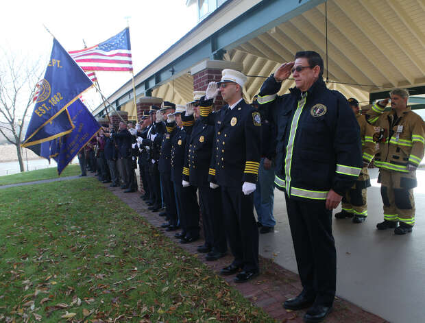 The American Legion Post 16's  holds its annual Veterans Day Ceremony at Veterans Memorial Park in Shelton, Conn. on November 11, 2012. Photo: BK Angeletti, B.K. Angeletti / Connecticut Post freelance B.K. Angeletti