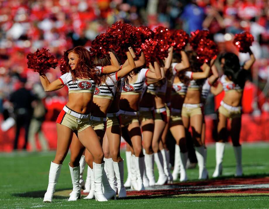San Francisco 49ers cheerleaders perform during the first quarter of an NFL football game against the St. Louis Rams in San Francisco, Sunday, Nov. 11, 2012. Photo: Marcio Jose Sanchez, Associated Press / AP