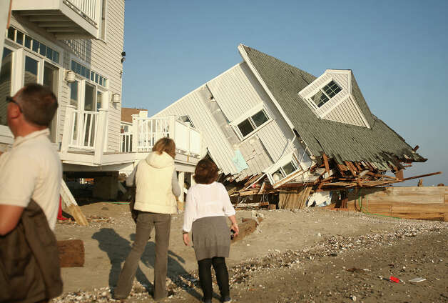 A house destroyed in Hurricane sandy on Fairfield Beach Road in Fairfield on Sunday, November 11, 2012. Photo: Brian A. Pounds / Connecticut Post
