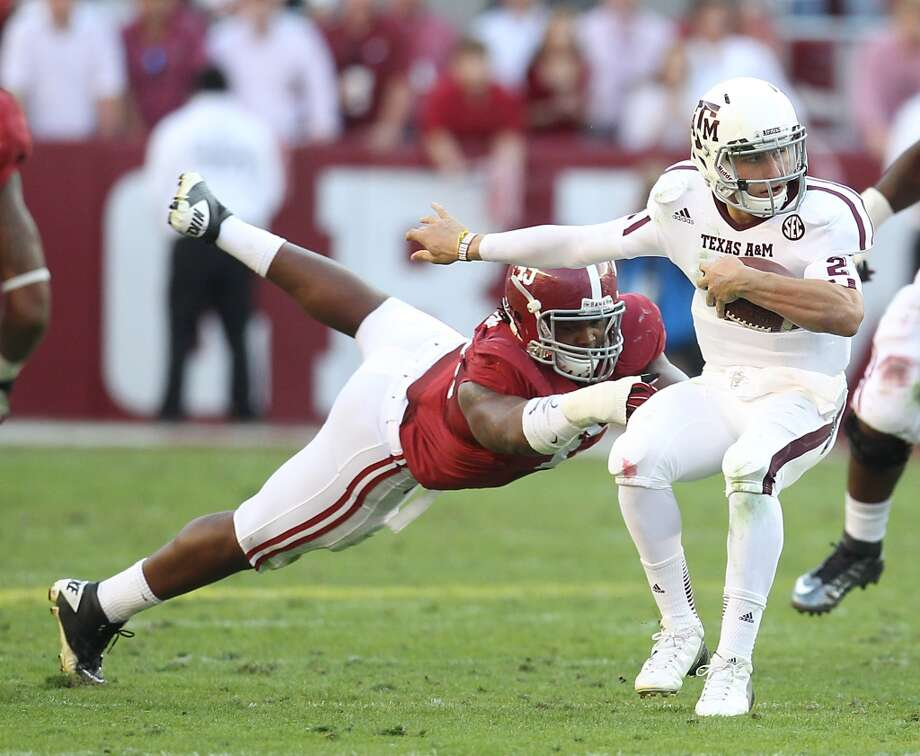 1. Texas A&M (8-2, next game Saturday vs. Sam Houston State) — It looks like a busy December and beyond for Johnny Football with a certain trip to New York for the Heisman presentation and perhaps even a BCS bowl berth for his team with a little luck.  Karen Warren / Houston Chronicle  (Houston Chronicle)
