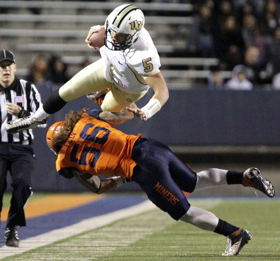 12. UTEP (2-8, next game Saturday at Southern Mississippi) — Freshman QB Blaire Sullivan helped the Miners transition to a run-first team with only five completions, but even Nathan Jeffery's 175-yard rushing effort wasn't enough to subdue UCF. Mark Lambie/AP/El Paso Times (Associated Press)