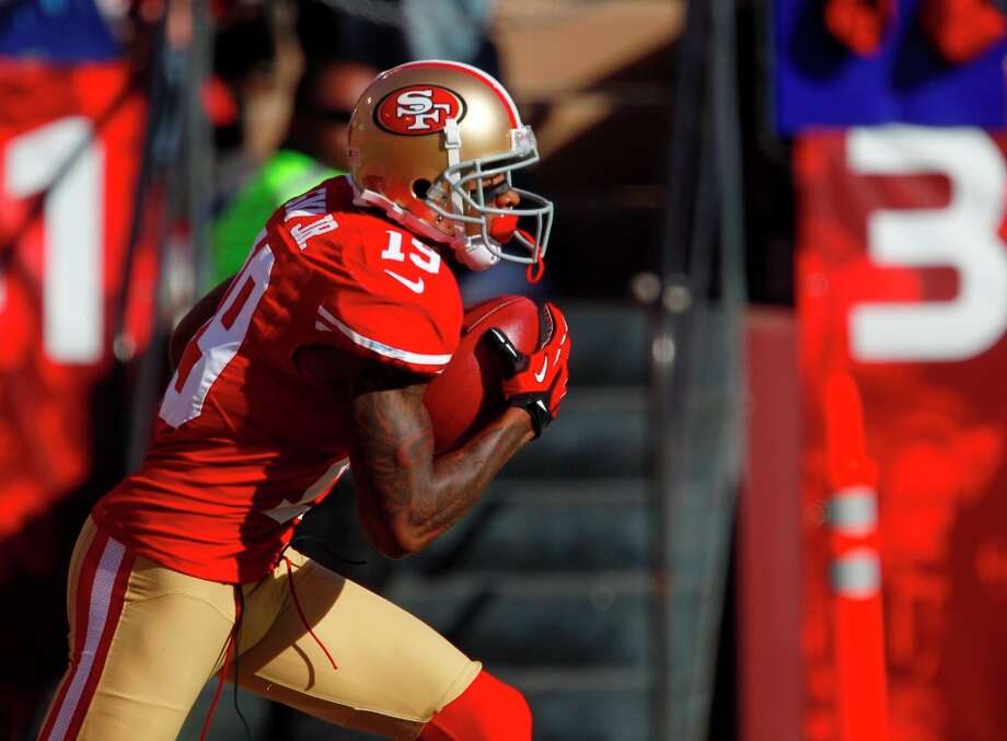 Wide receiver Ted Ginn Jr. (19) during the first quarter of the San Francisco 49ers game against the St. Louis Rams at Candlestick Park in San Francisco, Calif., on Sunday November 11, 2012. Photo: Carlos Avila Gonzalez, The Chronicle / ONLINE_YES