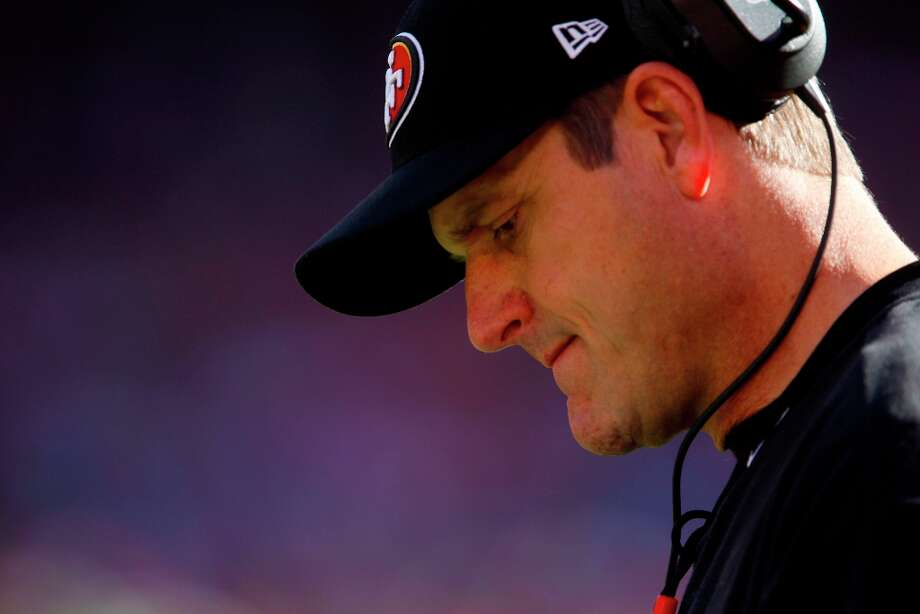 49ers couch Jim Harbaugh during the first quarter of the San Francisco 49ers game against the St. Louis Rams at Candlestick Park in San Francisco, Calif., on Sunday November 11, 2012. Photo: Carlos Avila Gonzalez, The Chronicle / ONLINE_YES
