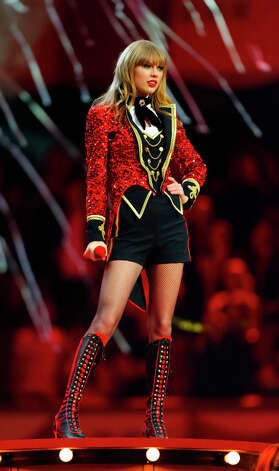 U.S. singer Taylor Swift was one of the big winners of the 2012 MTV European Music Awards. She won Best Female Best Live Act and Best Look, and performed a circus-themed production number. Photo: Michael Probst, Associated Press / AP