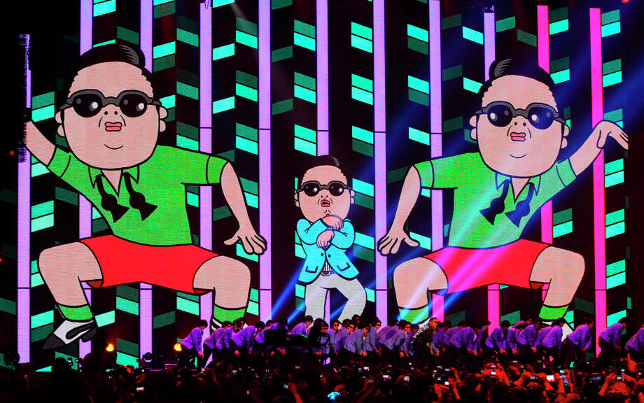 South Korean Psy performs during the 2012 MTV European Music Awards show at the Festhalle in Frankfurt, central Germany, Sunday, Nov. 11, 2012. Photo: Michael Probst, Associated Press / AP