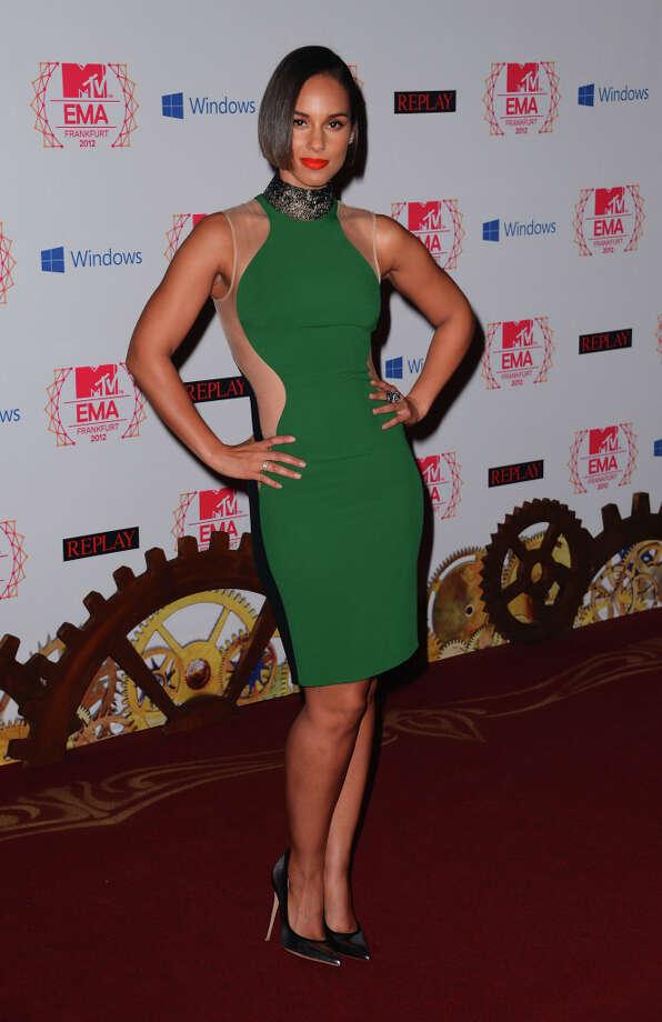 Singer Alicia Keys attends the MTV EMA's 2012 at Festhalle Frankfurt on November 11, 2012 in Frankfurt am Main, Germany. Photo: Ian Gavan, Getty Images For MTV / 2012 Getty Images