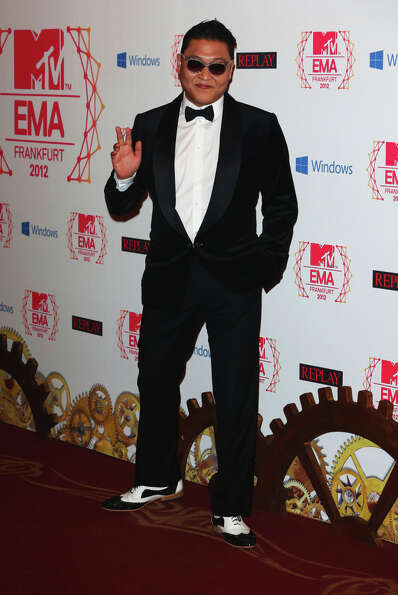 Psy attends the MTV EMA's 2012 at Festhalle Frankfurt on November 11, 2012 in Frankfurt am Main, Ger