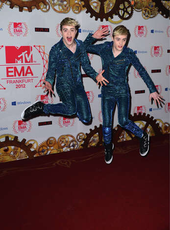Jedward attend the MTV EMA's 2012 at Festhalle Frankfurt on November 11, 2012 in Frankfurt am Main, Germany. Photo: Ian Gavan, Getty Images For MTV / 2012 Getty Images