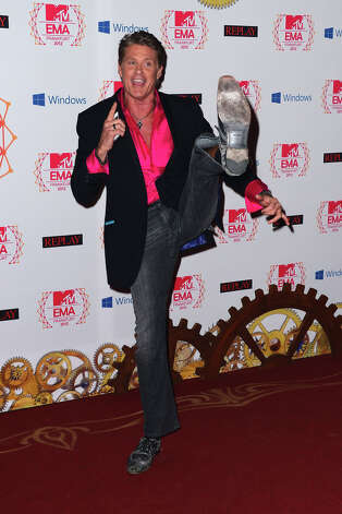 David Hasselhoff attends the MTV EMA's 2012 at Festhalle Frankfurt on November 11, 2012 in Frankfurt am Main, Germany. Photo: Ian Gavan, Getty Images For MTV / 2012 Getty Images