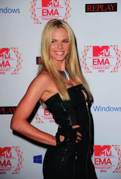 Model Anne V (Anne Vyalitsyna) attends the MTV EMA's 2012 at Festhalle Frankfurt on November 11, 201