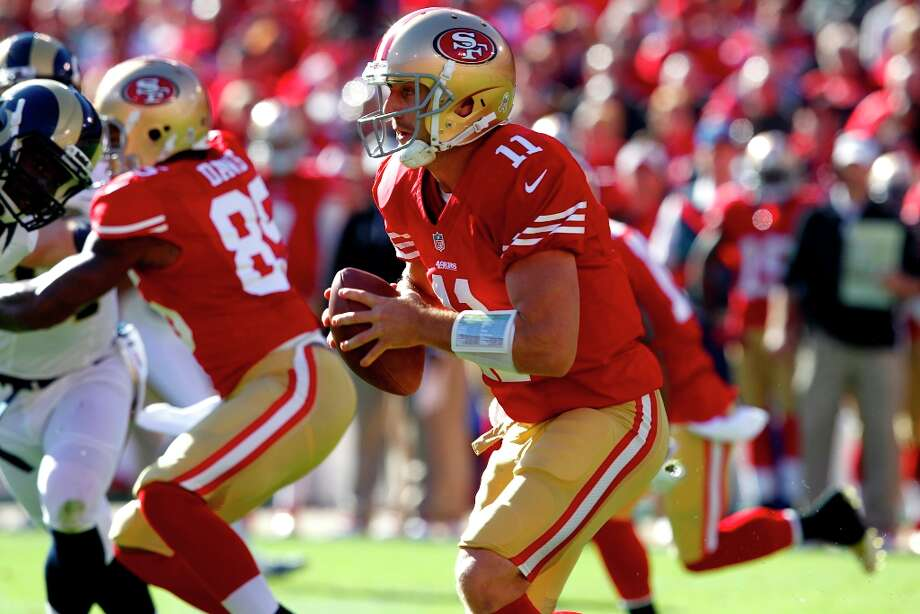 Quarterback Alex Smith (11) during the first quarter of the San Francisco 49ers game against the St. Louis Rams at Candlestick Park in San Francisco, Calif., on Sunday November 11, 2012. Photo: Brant Ward, The Chronicle / ONLINE_YES