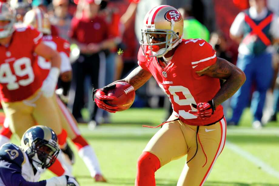 Wide receiver Ted Ginn Jr. (19) during the first quarter of the San Francisco 49ers game against the St. Louis Rams at Candlestick Park in San Francisco, Calif., on Sunday November 11, 2012. Photo: Brant Ward, The Chronicle / ONLINE_YES