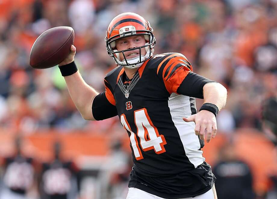 Andy Dalton's career-high four touchdown passes hurt the Giants, and so did their four turnovers, which helped Cincinnati build a 25-point lead. Photo: Andy Lyons, Getty Images