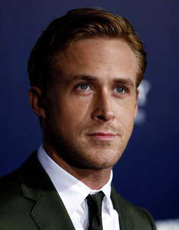 "FILE - In this Sept. 27, 2011 file photo, actor Ryan Gosling arrives at the premiere of his film ""The Ides of March"", in Beverly Hills, Calif. Gosling was nominated Thursday, Dec. 15, 2011, for two Golden Globe awards for best actor in a comedy for his role in ""Crazy, Stupid, Love,"" and in a drama for his role in ""The Ides of March."" (AP Photo/Matt Sayles, file) Photo: Matt Sayles / AP2011"