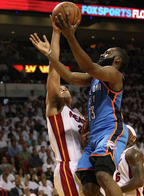 James Harden shot 18-for-48 in the NBA Finals against the Heat. Photo: David Santiago, MBR / El Nuevo Herald