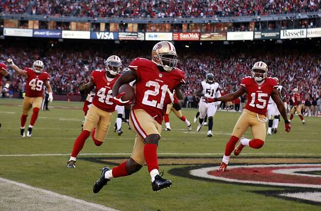 Frank Gore runs into the end zone for his fourth quarter touchdown. The San Francisco 49ers played the St. Louis Rams at Candlestick Park in San Francisco, Calif., on Sunday, November 11, 2012. The teams played to a tie in overtime. Photo: Carlos Avila Gonzalez, The Chronicle