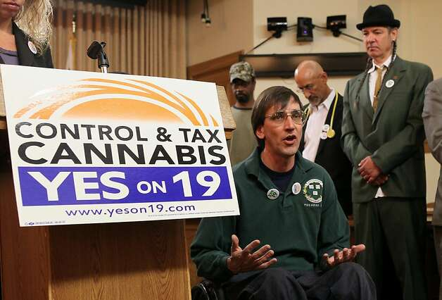 Oaksterdam University's Richard Lee gave his all to supporting the pro-pot Prop. 19. Photo: Justin Sullivan, Getty Images
