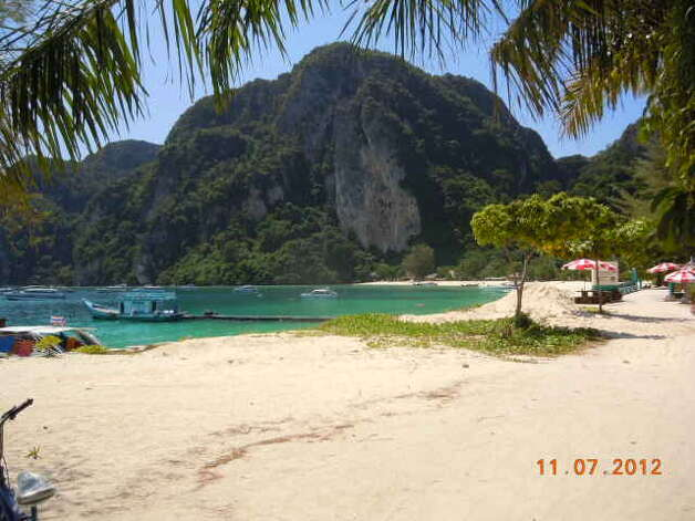 The powder white sands of Koh Phi Phi.