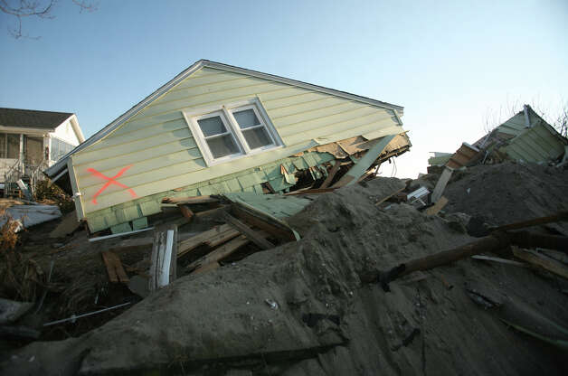 A house destroyed by Hurricane Sandy on Fairfield Beach Road in Fairfield on Sunday, November 11, 2012. Photo: Brian A. Pounds / Connecticut Post