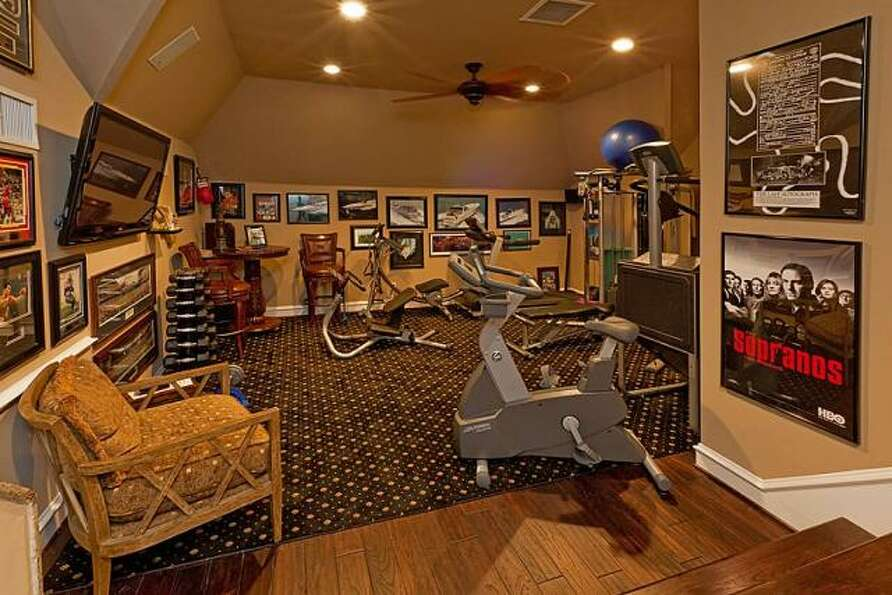 This additional room can be used as an exercise space or game room.