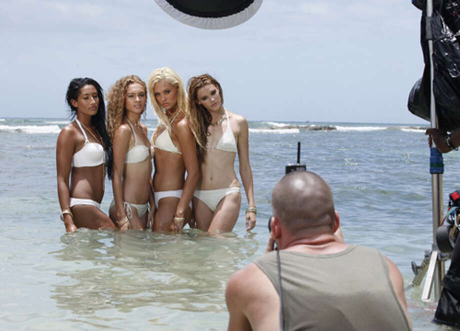 """America's Next Top Model -- """"The Girl Who Freaks Out On Horseback""""pictured left to right: Kiara, Nastasia, Laura and LeilaCycle 19Photo: Angelo Sgambeti/The CW©2012 The CW Network, LLC. All Rights Reserved Photo: Angelo Sgambeti, The CW / ©2012 The CW Network, LLC. All Rights Reserved"""