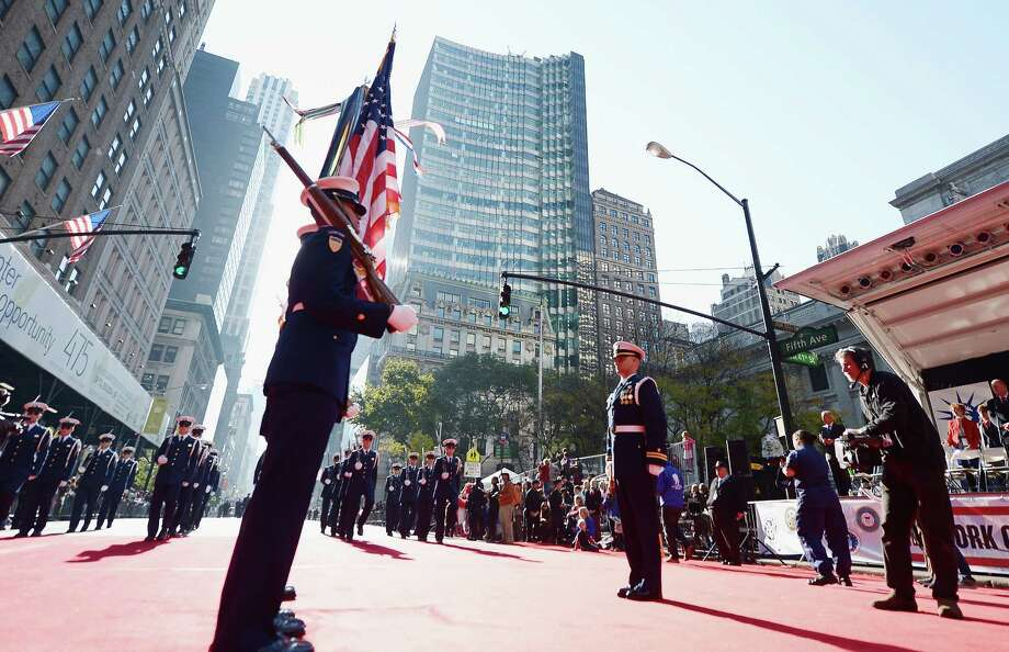 NEW YORK, NY - NOVEMBER 11:  Members of the U.S. Coast Guard take part in the Veteran's Day Parade on November 11, 2012 in New York City. Former Mayor Ed Koch is the grand marshal for the parade, which expects to draw thousands of spectators and is the commemoration of the 50th anniversary of the start of the Vietnam War. Photo: Michael Loccisano, Getty Images / 2012 Getty Images