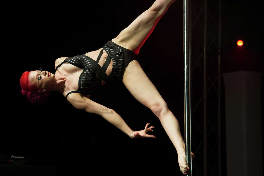 ZURICH, SWITZERLAND - NOVEMBER 10:  A competitor participates at the World Pole Dancing Championship