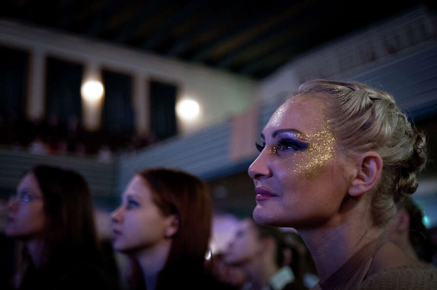 ZURICH, SWITZERLAND - NOVEMBER 10:  The audience looks at a competitor participating at the World Po