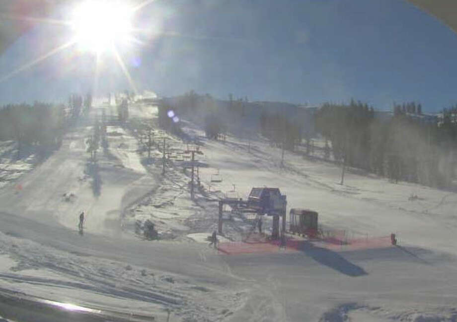 A screen shot from the Boreal Mountain Resort live camera on Monday morning. Photo: Boreal