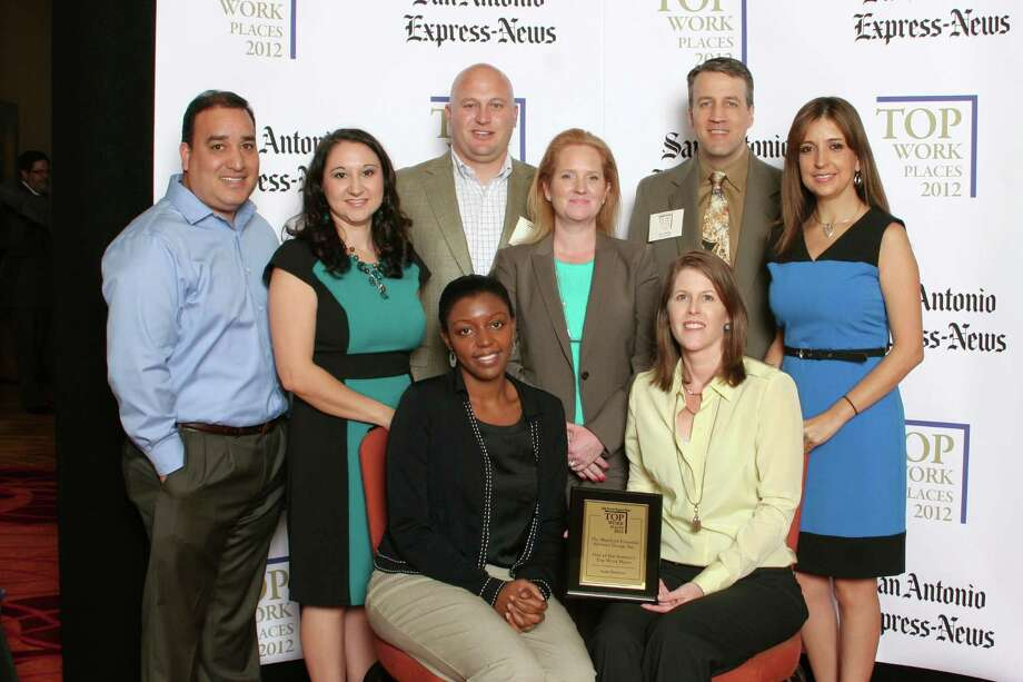 The Hartford ranks 14th among large businesses in San  Antonio at the  2012 San Antonio Express-News Top Workplaces Luncheon –  Wednesday,  October 17, 2012 Photo: San Antonio Express-News