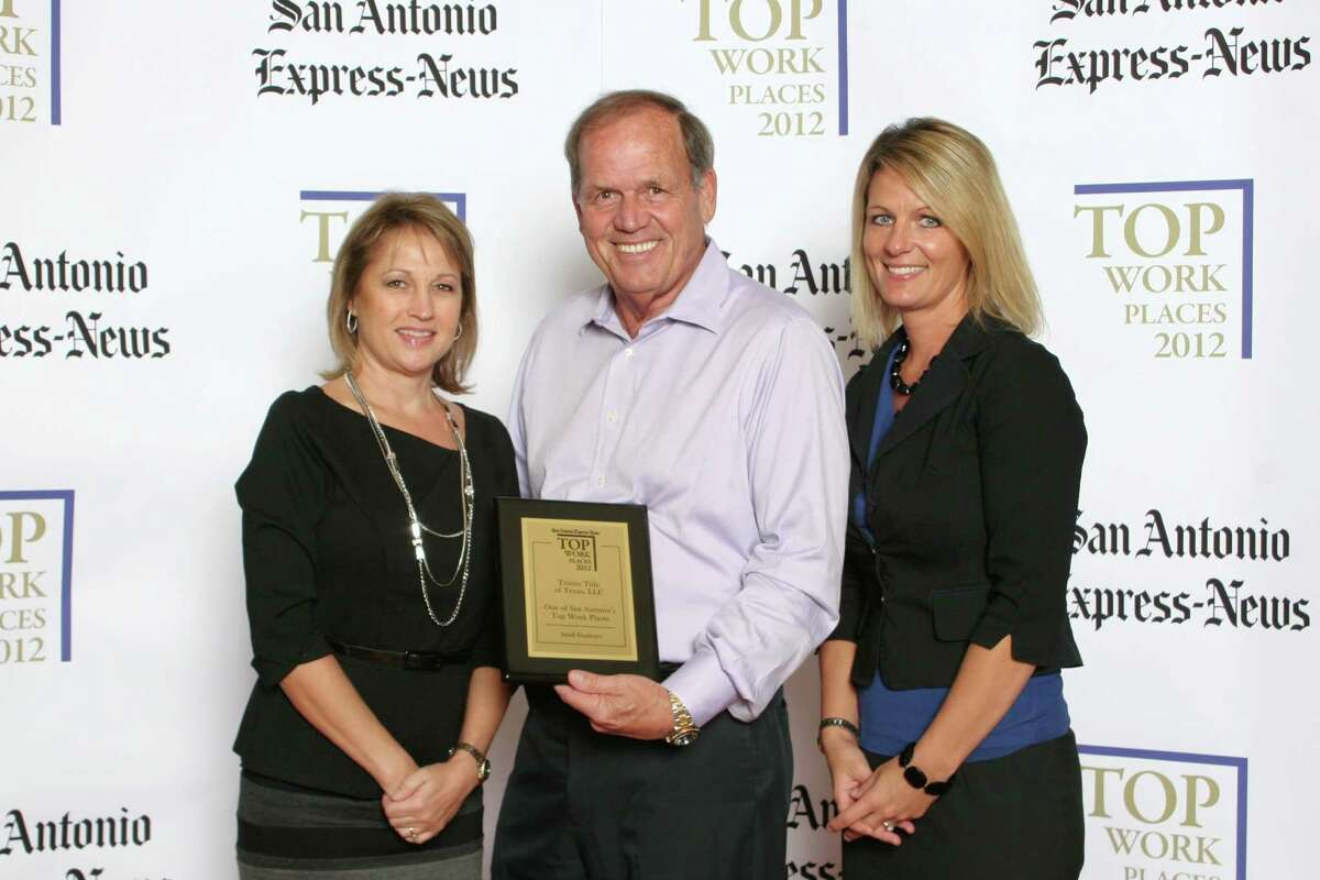 Trinity Title of Texas, LLC ranks 7th among small businesses in San Antonio at the 2012 San Antonio Express-News Top Workplaces Luncheon - Wednesday, October 17, 2012