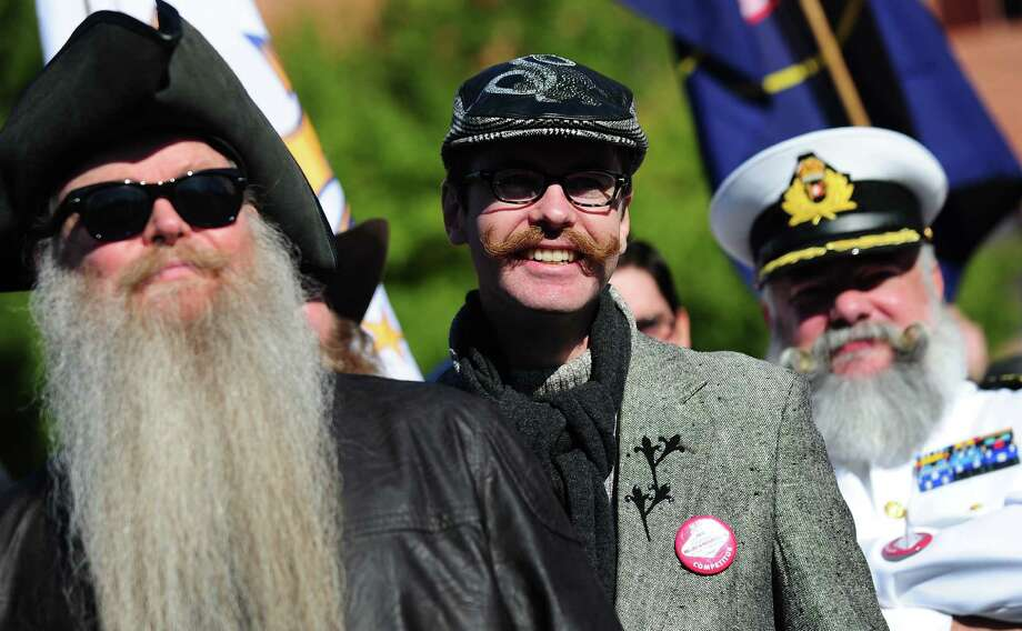 Contestants march in a procession at the opening of the third annual National Beard and Moustache Championships in Las Vegas, Nevada on November 11, 2012. AFP PHOTO / Frederic J. BROWNFREDERIC J. BROWN/AFP/Getty Images Photo: FREDERIC J. BROWN, AFP/Getty Images / AFP