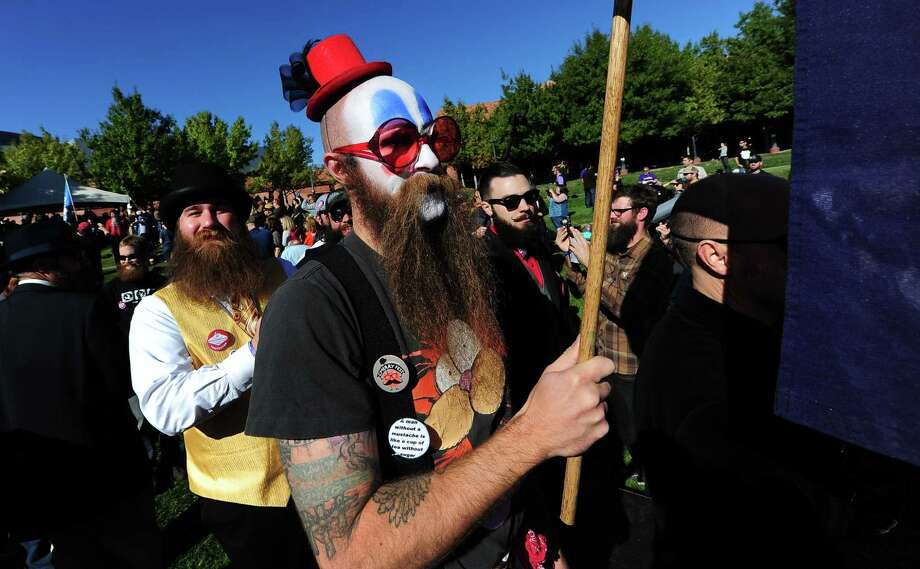 Contestants arrive for the start of the third annual National Beard and Moustache Championships in Las Vegas, Nevada on November 11, 2012. AFP PHOTO / Frederic J. BROWNFREDERIC J. BROWN/AFP/Getty Images Photo: FREDERIC J. BROWN, AFP/Getty Images / AFP