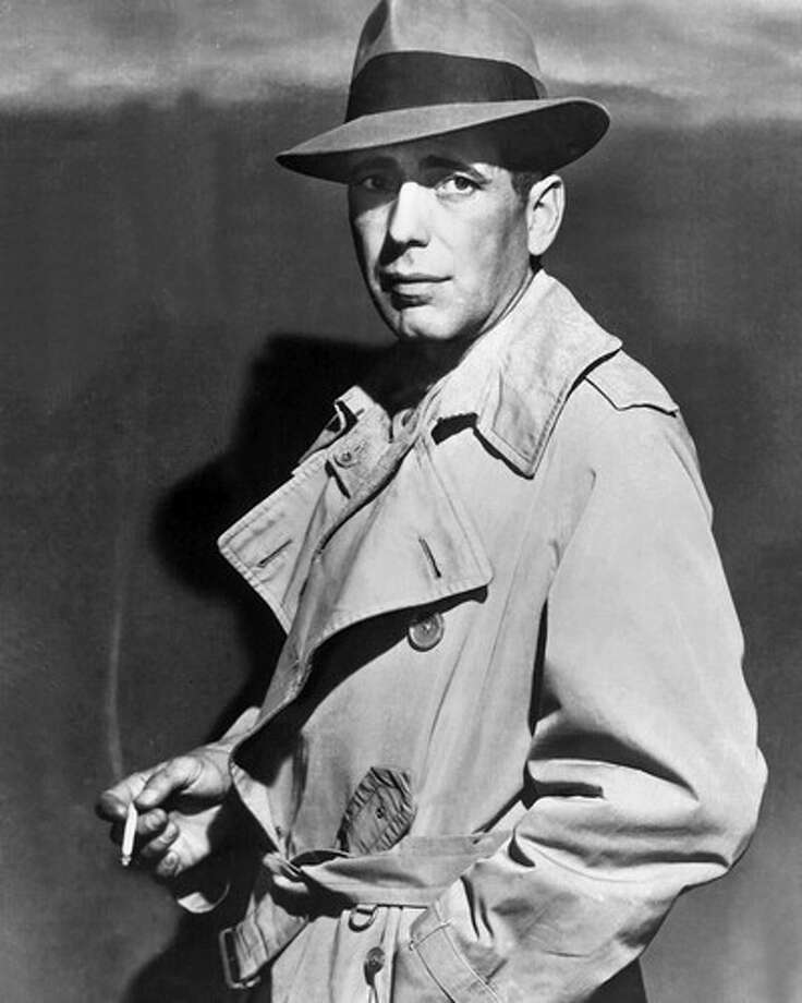 Bogart: The face of dignity, conscience, inner struggle, American stoicism -- of American skepticism and commitment -- of dark humor that knows the world -- singular and irreplaceable. / Mirror Syndication International