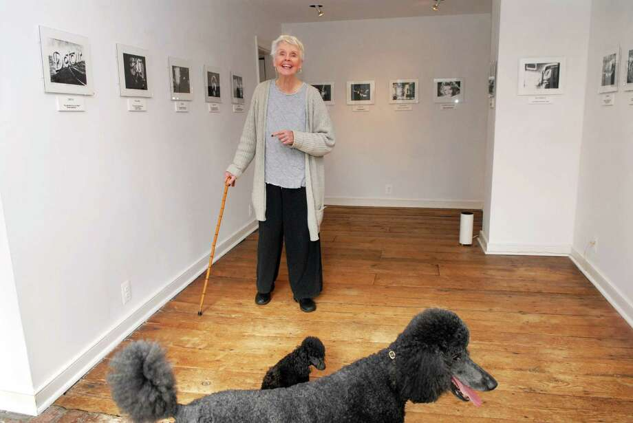 Patsy Murphey Whitman runs the PMW Gallery from her Roxbury Road home in Stamford, Conn. with the help of partner Betsy Adams on Monday November 12, 2012. Their dogs are Stella a standard poodle and Luna a toy poodle. Photo: Dru Nadler / Stamford Advocate Freelance