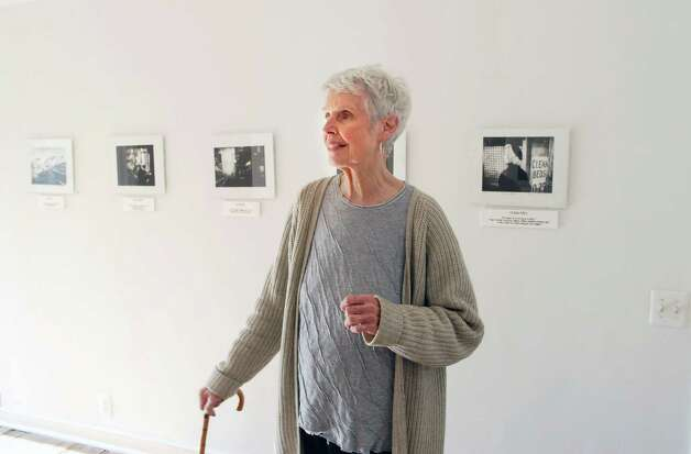 "Patsy Murphey Whitman stands in one of the rooms in PWM Gallery on  Monday November 12, 2012. which is housed  in her Roxbury Road home in Stamford, Conn. The current show is called ""Noir"" with works by Ann Chernow. Photo: Dru Nadler / Stamford Advocate Freelance"