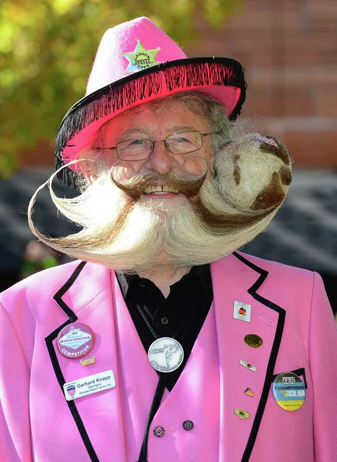 Former World Beard Champion, Gerhard Knapp, from Germany, poses ahead of competition at the third annual National Beard and Moustache Championships in Las Vegas, Nevada on November 11, 2012. Photo: FREDERIC J. BROWN, AFP/Getty Images / AFP