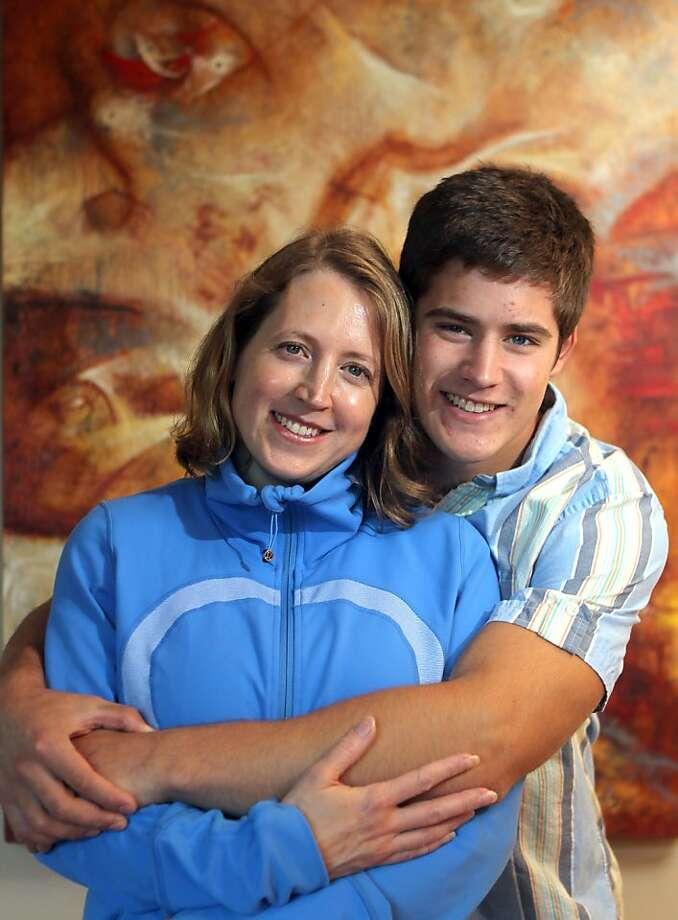 Nadya McCann and son Miles McCann Robinson used the Nextdoor site to alert neighbors when he contracted meningitis last year. Photo: Lance Iversen, The Chronicle