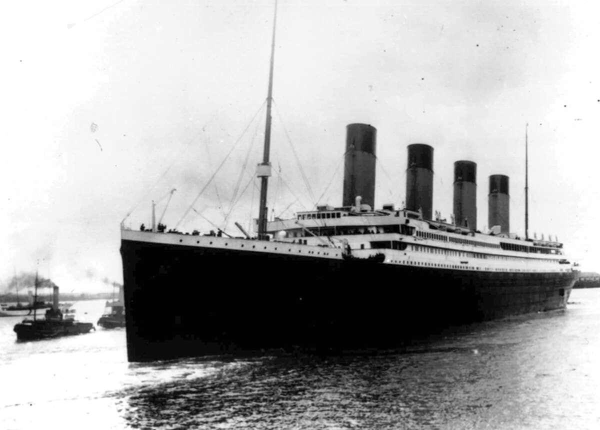 FILE - In this April 10, 1912 file photo, the liner Titanic leaves Southampton, England on her maiden voyage to New York City. Five days into her journey, the ship struck an iceberg and sank, resulting in the deaths of more than 1,500 people. The first interviews of survivors, and the first impressions of people across the world, of the ill-fated Costa Concordia cruise liner that ran aground and tipped over in Italy, Saturday, Jan. 14, 2012, are yielding predictable comparisons to the Titanic tragedy. (AP Photo, File)