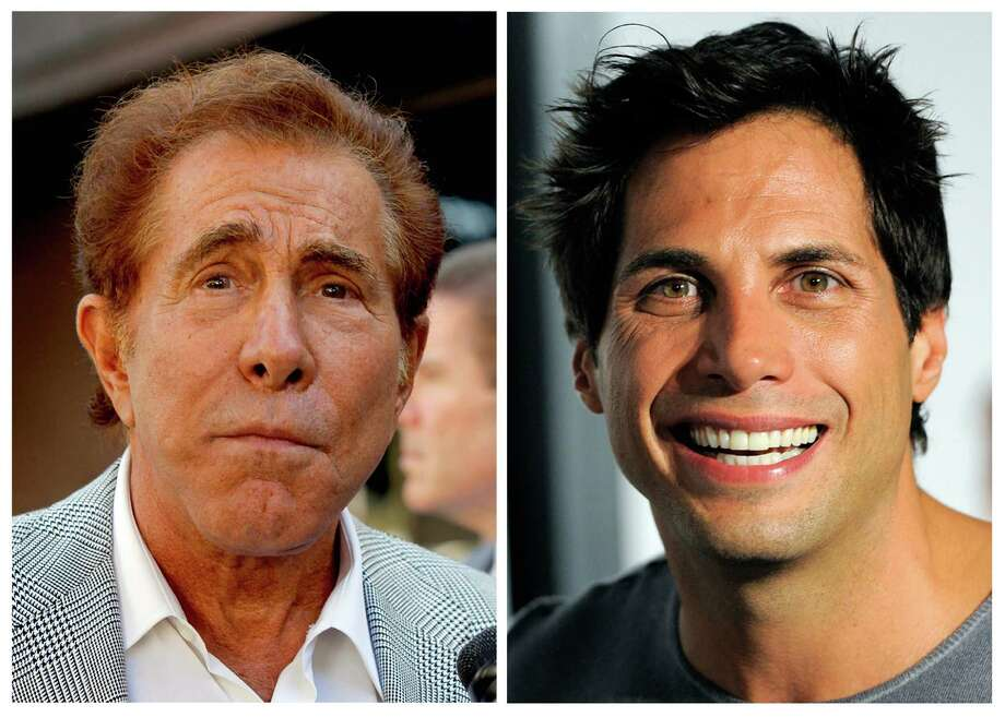 "FILE - This photo combination of file photos shows casino mogul Steve Wynn, left, in Los Angeles, and ""Girls Gone Wild"" founder Joe Francis, in Los Angeles. A judge has cut casino mogul Steve Wynn's slander verdict against ""Girls Gone Wild"" founder Joe Francis by $21 million, more than half of the original $40 million jury verdict. A jury found that Francis slandered Wynn when he claimed the casino mogul threatened to kill him and bury him in the desert. (AP Photo/Nick Ut, Chris Pizzello, file) Photo: Nick Ut, Chris Pizzello"
