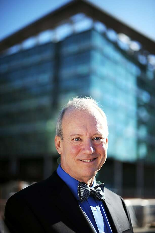 Bill McDonough and his firm worked on UCSF Medical Center at Mission Bay, set to open in 2015. Inset: The firm's research building for NASA at Moffett Field, named Sustainability Base. Photo: Michael Short, Special To The Chronicle