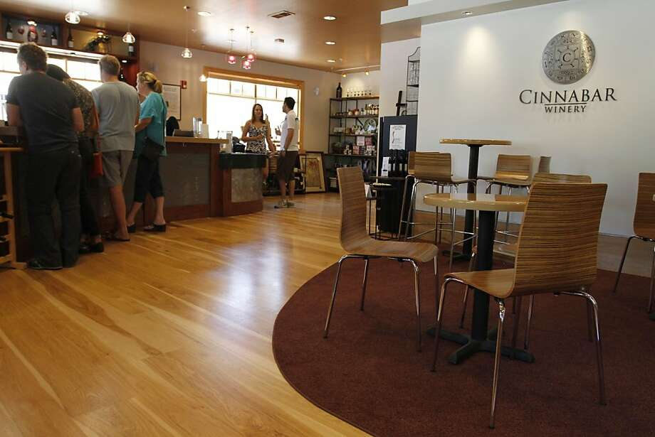 Cinnabar, on Saratoga's main street, turns its tasting room into a wine bar featuring live music on Friday and Saturday nights. Photo: Sean Culligan, The Chronicle