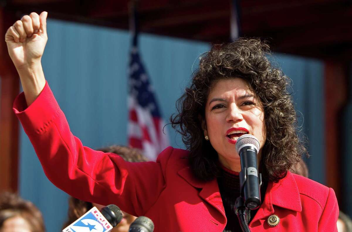 State Rep. Carol Alvarado announces Monday she will run for Mario Gallegos' state Senate seat. Gallegos' wife said Alvarado was the late senator's choice.