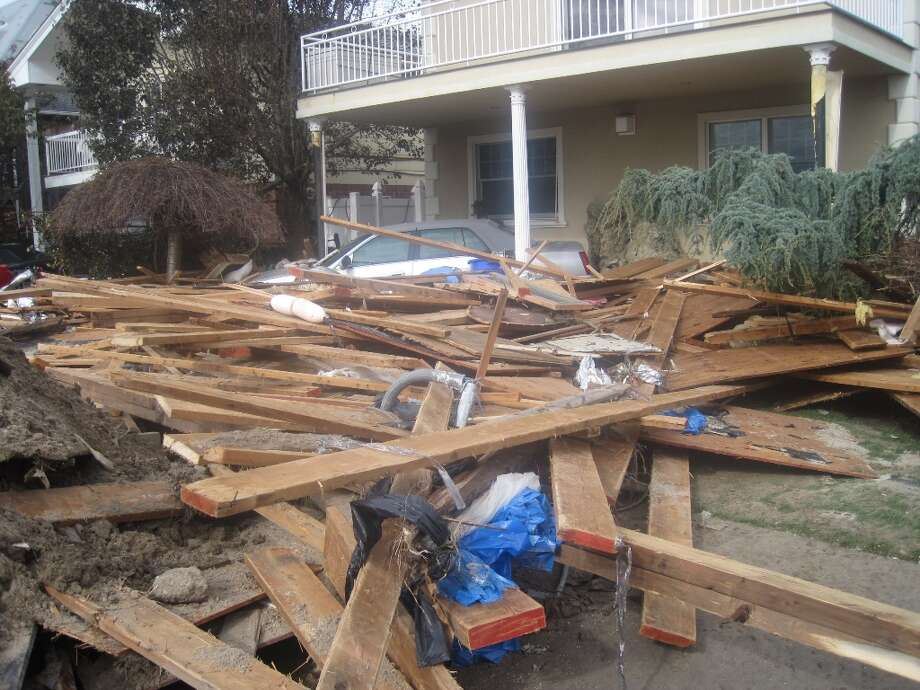 A home in Sea Gate, Brooklyn, affected by Superstorm Sandy.  (Jana Kasperkevic / Houston Chronicle)