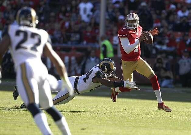 Colin Kaepernick seemed more at ease - and successful - as Sunday's game progressed. Photo: Carlos Avila Gonzalez, The Chronicle