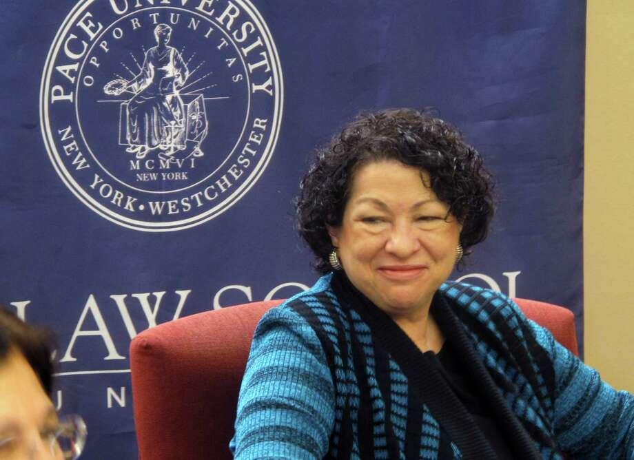 Supreme Court Justice Sonia Sotomayor speaks to students at Pace Law School, Monday, Nov. 12, 2012 in White Plains, N.Y. Sotomayor says the confirmation process for Supreme Court nominees is the only time the public thinks of them as people. She says justices are unlikely ever again to get that sort of individual attention. (AP Photo/Jim Fitzgerald) Photo: Jim Fitzgerald