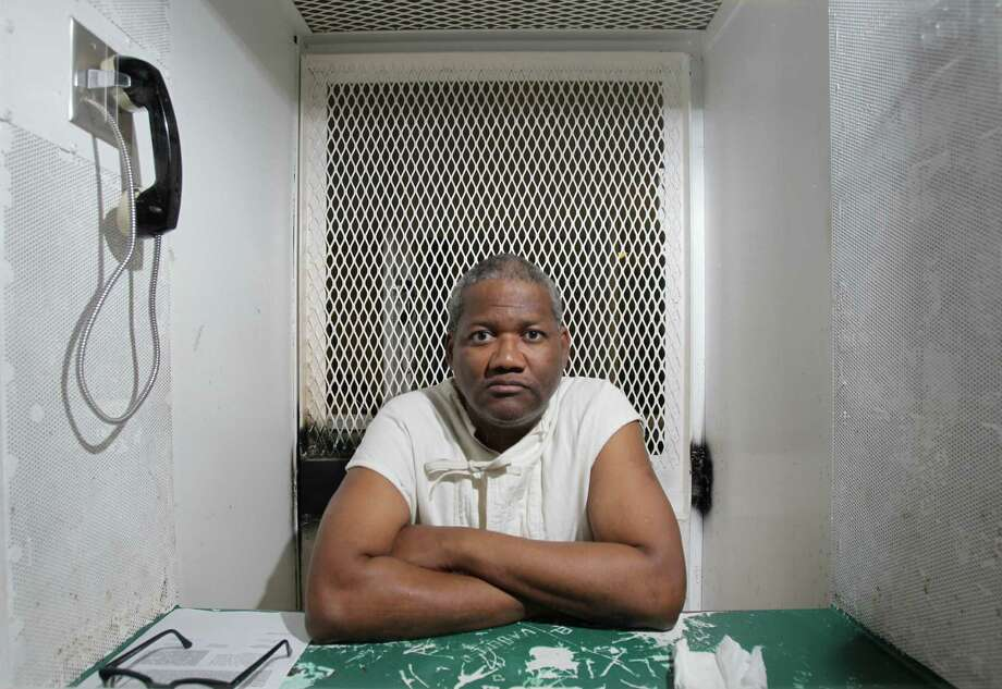 Preston Hughes, a death row inmate, is shown Wednesday, Oct. 24, 2012, at the Texas Department of Criminal Justice Polunsky Unit in Livingston. Hughes is scheduled to be executed on Nov. 15, 2012. Hughes, then 22, was convicted of killing La Shandra Rena Charles, 15, and her cousin, Marcell Lee Taylor, 3, on a dirt trail behind a restaurant in the 2400 block of South Kirkwood in September 1988. ( Melissa Phillip / Houston Chronicle ) Photo: Melissa Phillip, Staff / Houston Chronicle