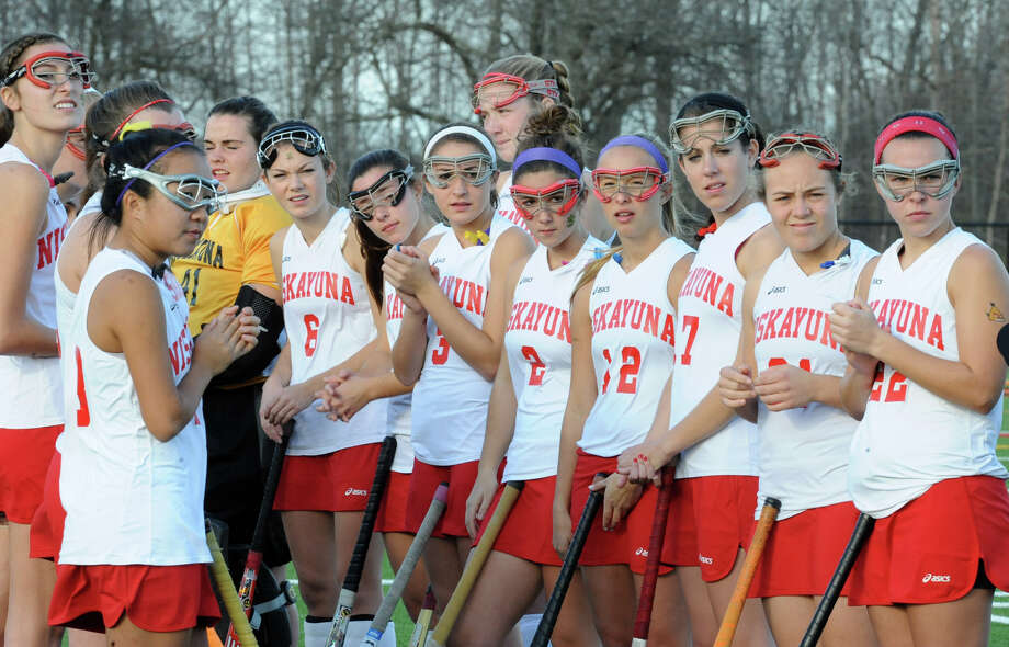 Niskayuna players line up before a section 2 Class A regional field hockey game against Suffern on Monday, Nov. 12, 2012 in Schuylerville, N.Y.  (Lori Van Buren / Times Union) Photo: Lori Van Buren