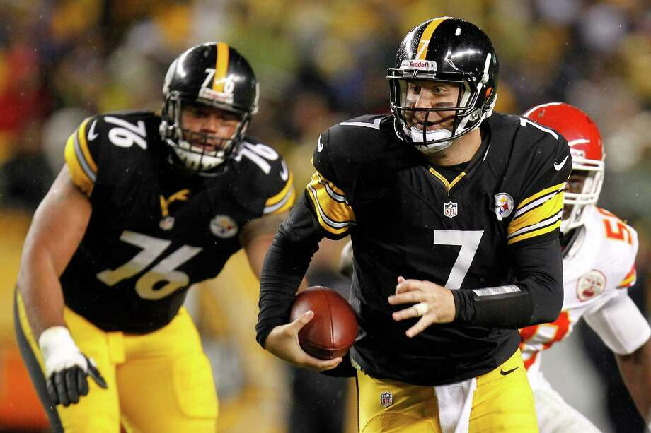 PITTSBURGH, PA - NOVEMBER 12:  Ben Roethlisberger #7 of the Pittsburgh Steelers runs the ball in the first half against the Kansas City Chiefs at Heinz Field on November 12, 2012 in Pittsburgh, Pennsylvania.  (Photo by Gregory Shamus/Getty Images) Photo: Gregory Shamus
