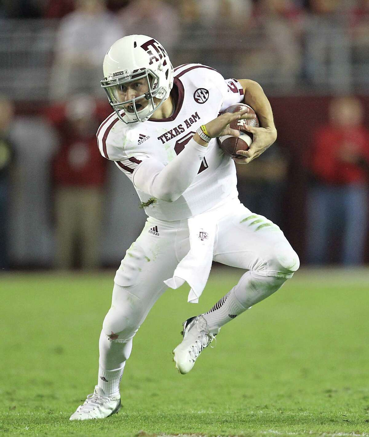 Just a freshman, Texas A&M quarterback Johnny Manziel has twice broken the SEC record for total yards in a game.